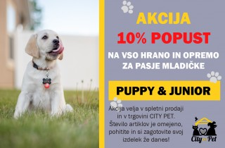 Akcija puppy in junior hrana City Pet
