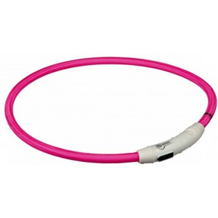 Ovratnica Flash Light - Usb-L-XL-65cm, roza