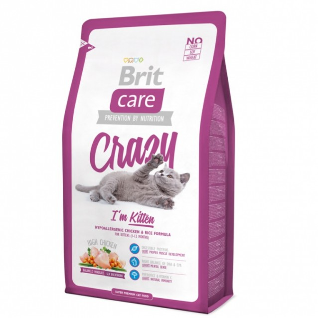 Brit Care Cat - Crazy i am Kittten - 2kg